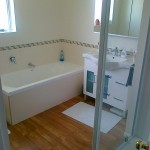 new, extended bathroom